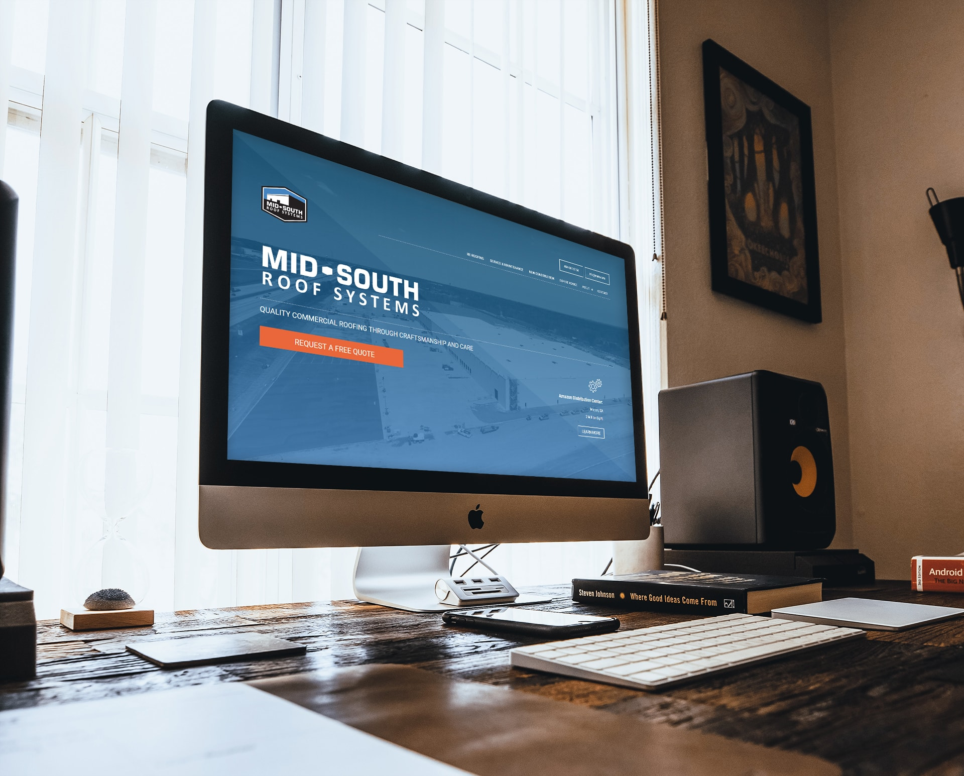 Mid-South Roof Systems Desktop Website Design